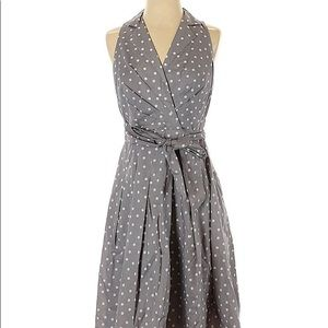 Evan Picone | Gray | Polka Dot | 1950s Dress